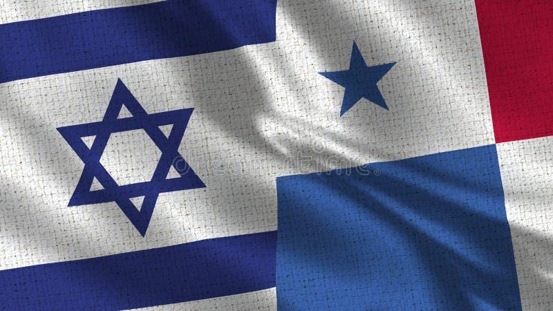 Israel och Panama flagga - två flaggor tillsammans fotografering för bildbyråer