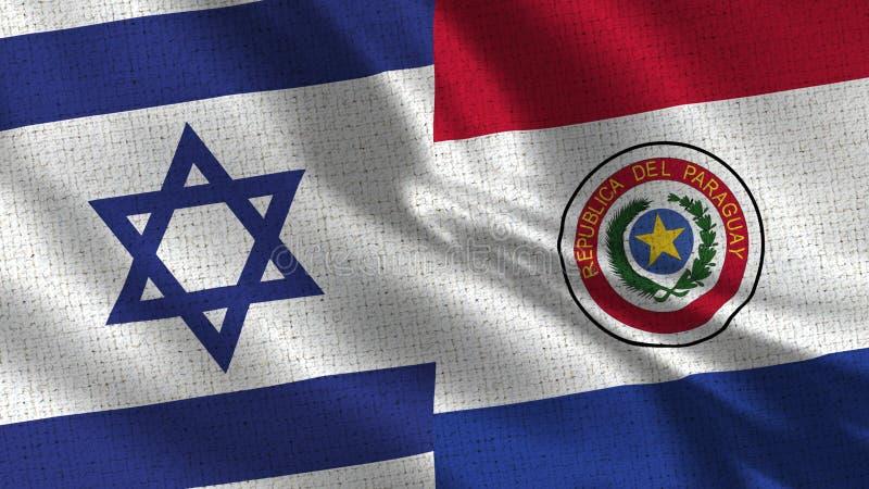 Israel och Paraguay flagga - två flaggor tillsammans royaltyfri foto