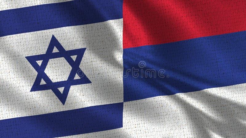 Israel och Republika Srpska flagga - två flaggor tillsammans royaltyfri bild