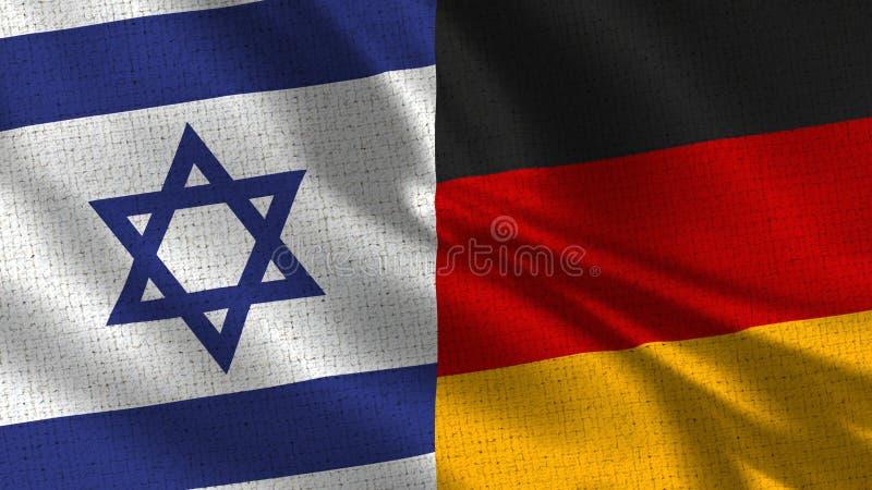 Israel och Tysklandflagga - två sjunker tillsammans royaltyfri foto