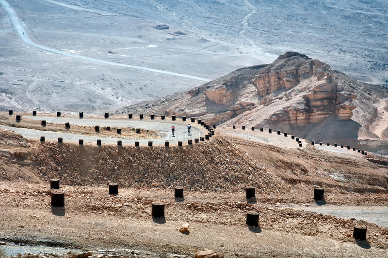 Israel, Old English road to Eilat. stock photo