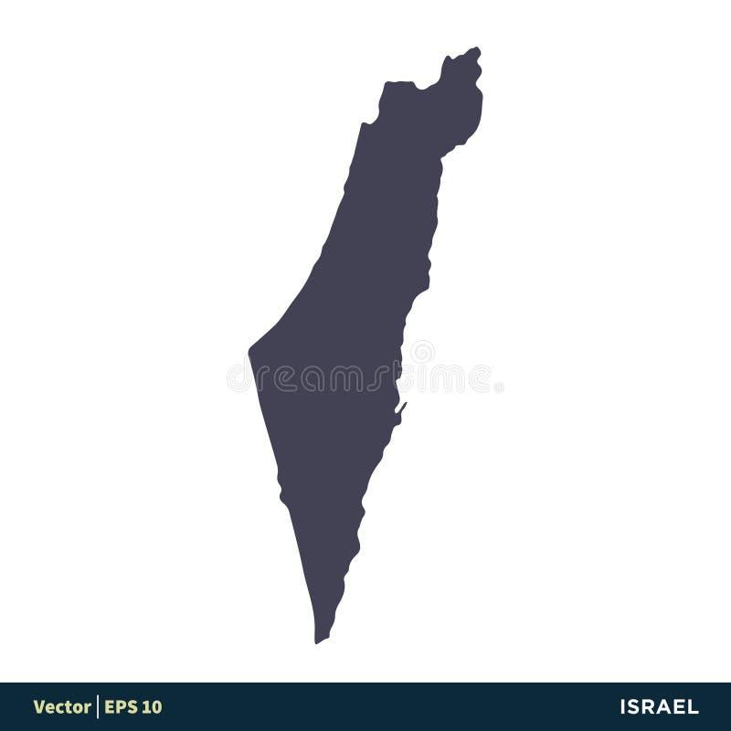 Israel - os países de Ásia ou de Europa traçam o vetor Logo Template Illustration Design do ícone Vetor EPS 10 ilustração stock