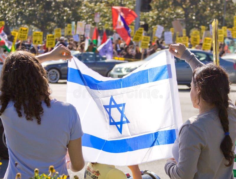 israel palestenian protest royaltyfri bild