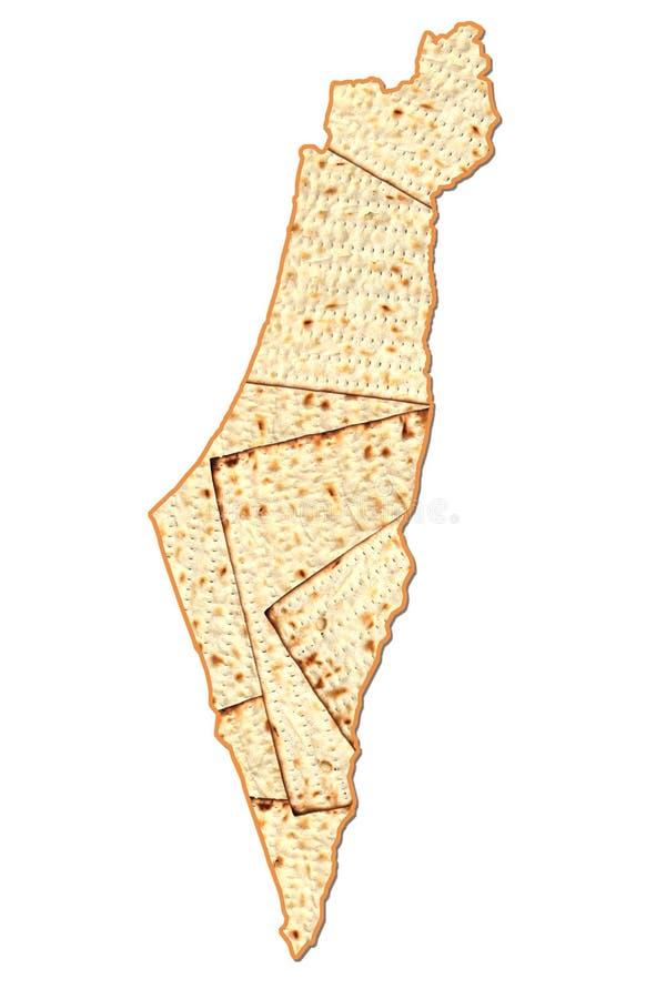Israel Passover-kaart royalty-vrije stock fotografie