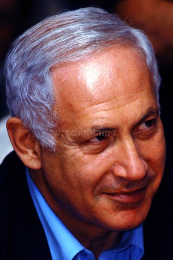 Israel Prime Minister - Benjamin Netanyahu arkivbild