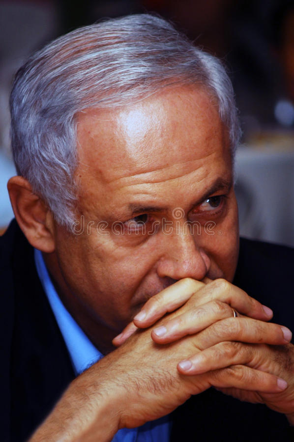 Israel Prime Minister - Benjamin Netanyahu photographie stock
