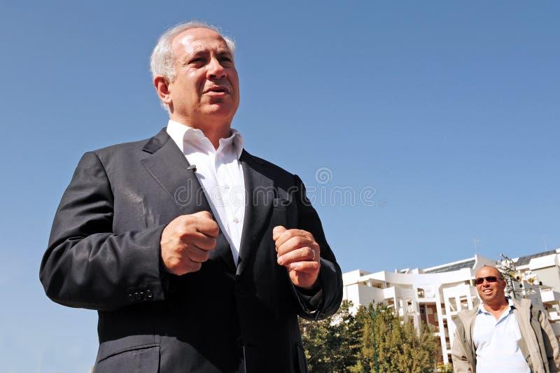 Israel Prime Minister - Benjamin Netanyahu arkivbilder