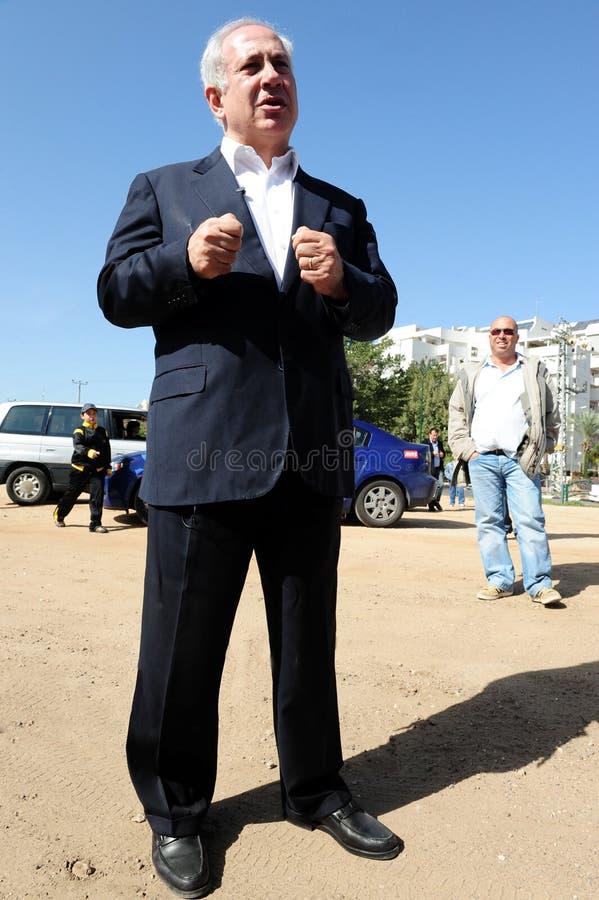 Israel Prime Minister - Benjamin Netanyahu royaltyfri bild