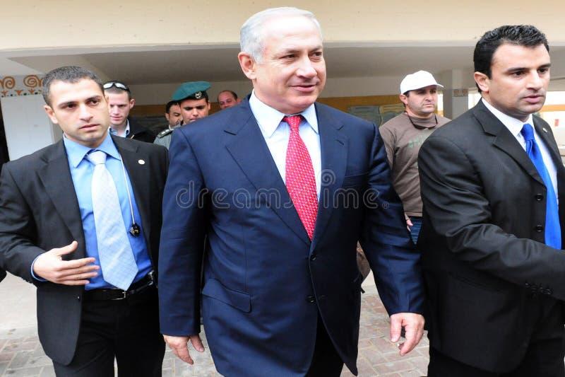 Israel Prime Minister - Benjamin Netanyahu royaltyfri foto