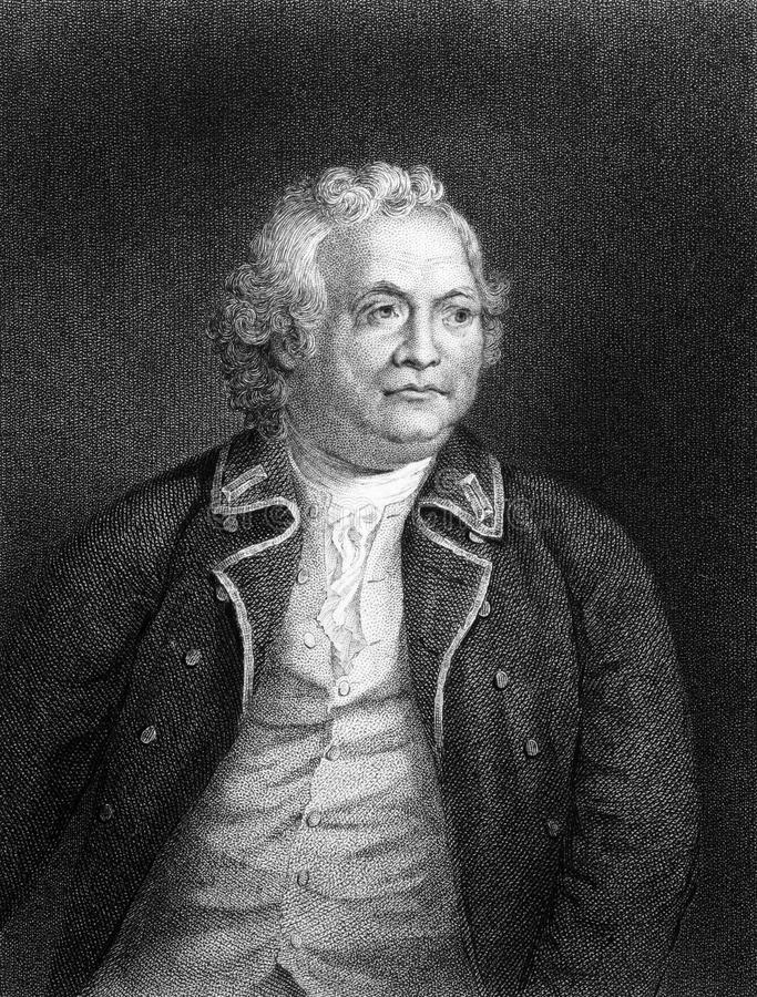 Israel Putnam. (1718-1790) on engraving from 1834. American army general officer and Freemason. Engraved by W.Humphreys and published in ''National Portrait royalty free stock images