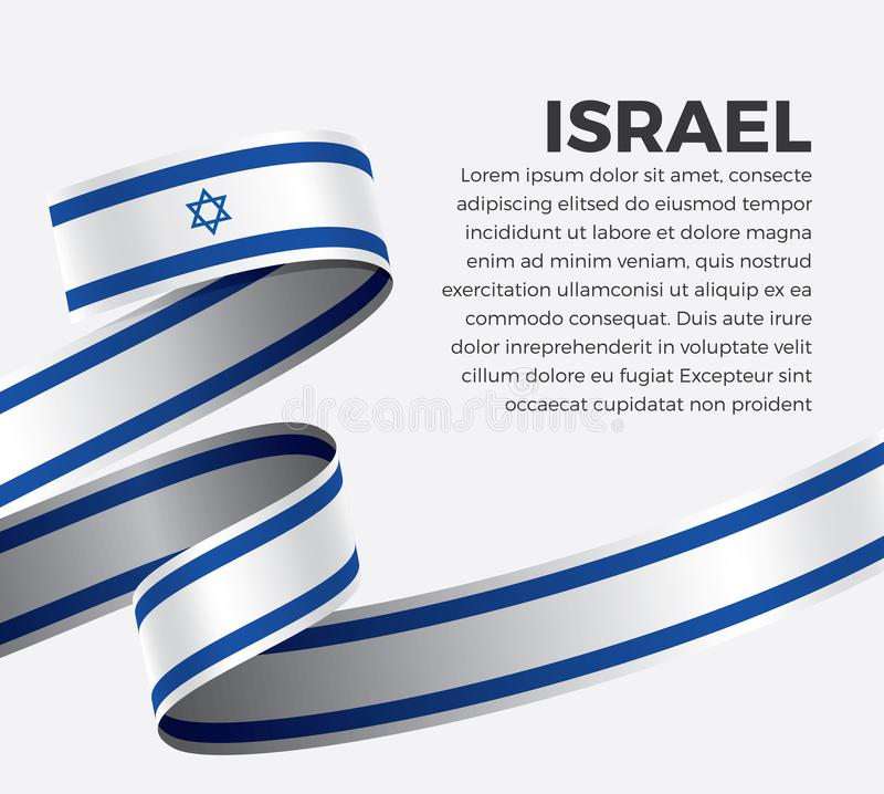 Israel flag for decorative.Vector background. Israel ribbon flag on background creative template. Simple work and adjusted to suit your needs vector illustration