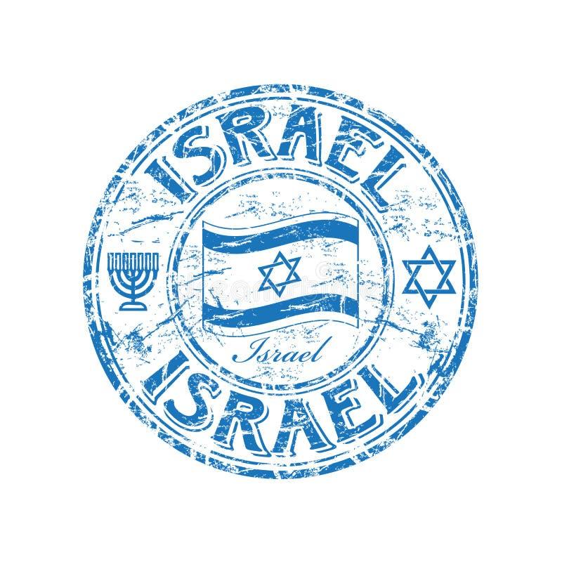 israel rubber stämpel stock illustrationer