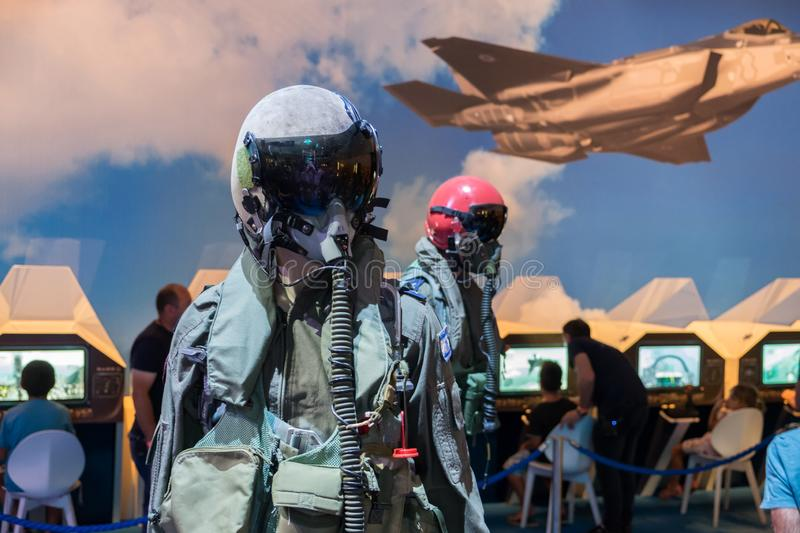 Israel`s military pilot uniform. Presented on military show royalty free stock images