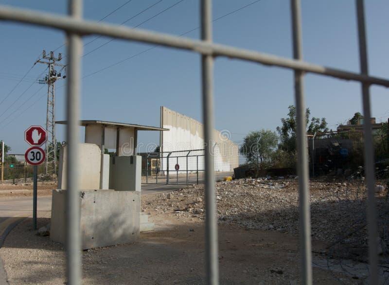 Israel Separation-muur Palestina, Cisjordanië stock afbeeldingen