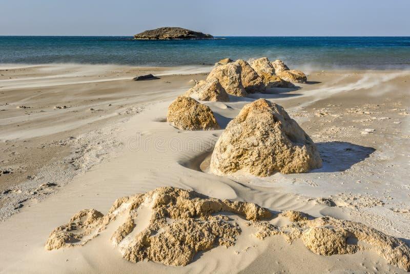 Israel Shore de la mer Méditerranée images libres de droits