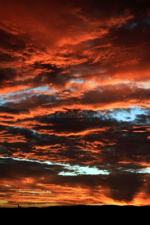 israel solnedgång royaltyfria foton