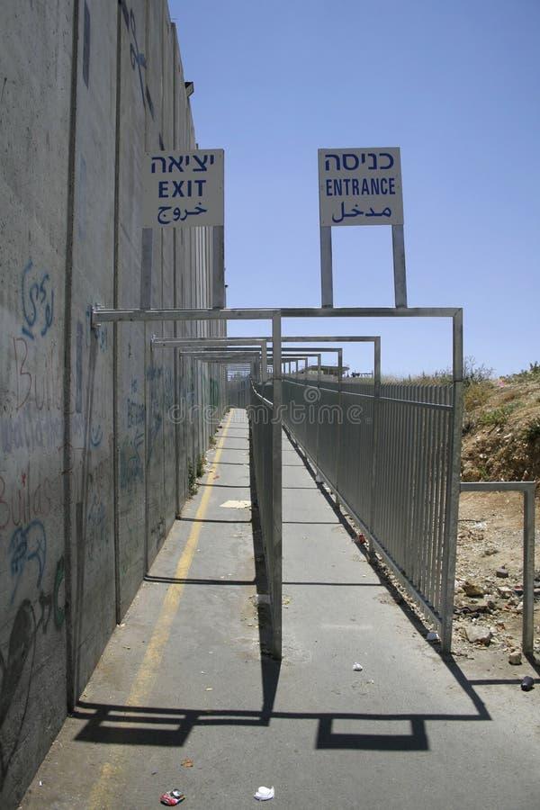 israel som avskiljer väggen arkivbild