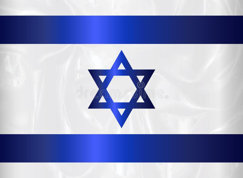 Israel Star Of David Flag illustrazione vettoriale