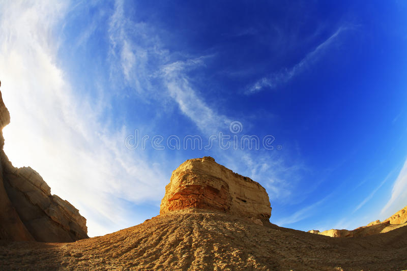 Israel on a sunset stock photography