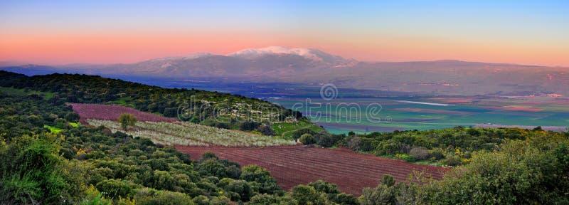 Israel Sunset Landscape royalty free stock image