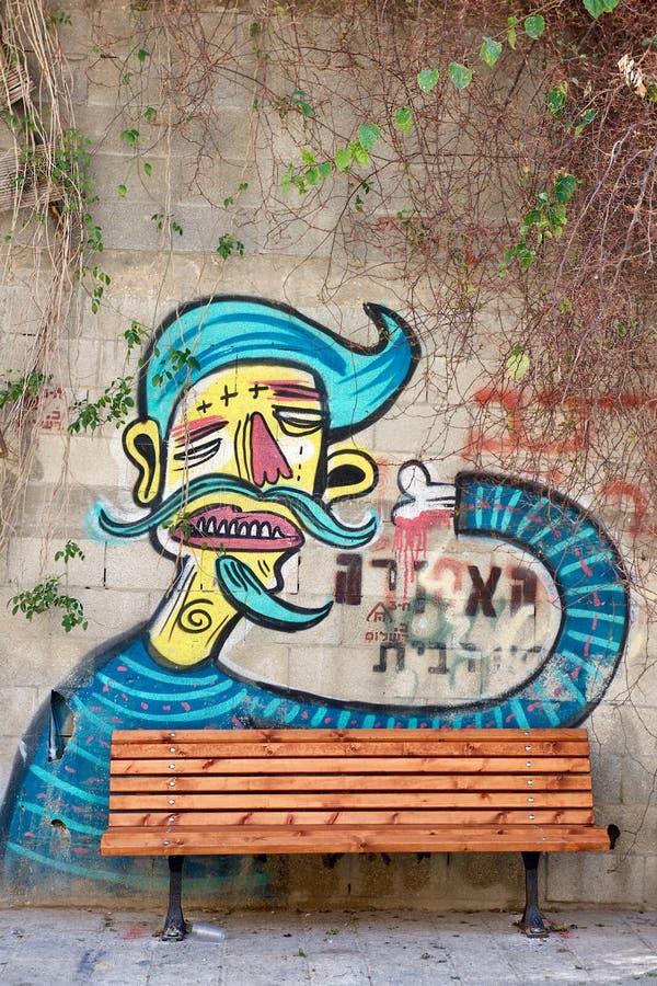 Israel Tel Aviv Ciudad vieja pintada fotos de archivo