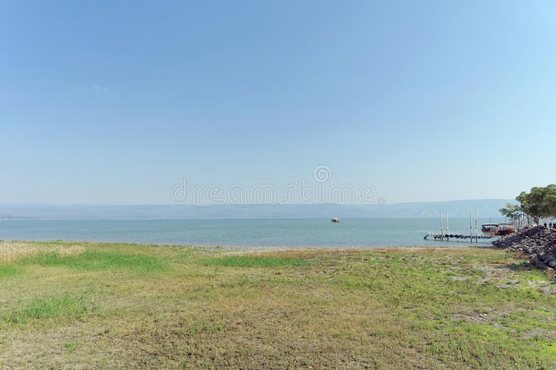 Israel, view of the Sea of Galilee royalty free stock image