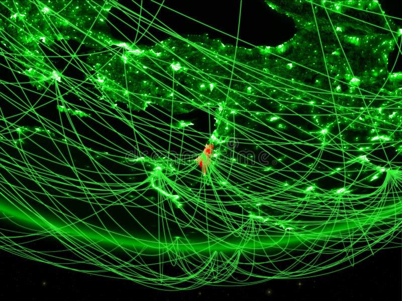 Israel vom Raum mit Netz lizenzfreie abbildung