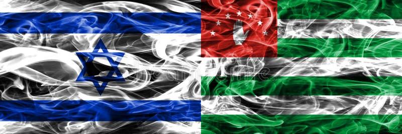 Israel vs Abchazien rök sjunker den förlade sidan - förbi - sidan Israel och royaltyfria bilder
