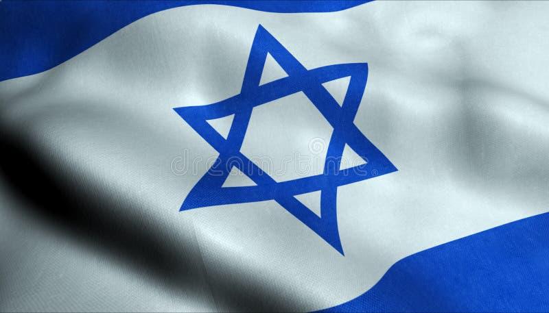 Israel Waving Flag i 3D stock illustrationer