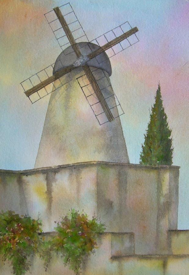 israel wiatrak Jerusalem ilustracja wektor