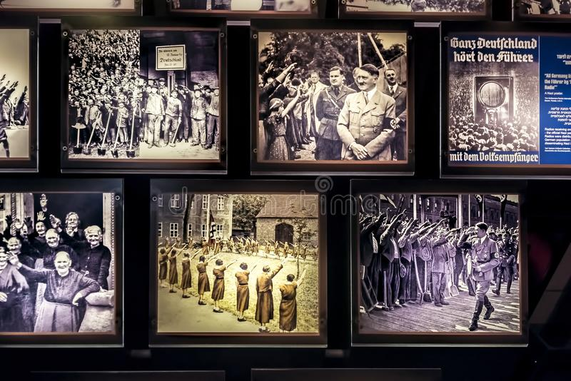 Israel, Yad-Vassim Holocaust, 14-08-2017 View of the photos from the time of the 2nd world war and persecution of the Jews, as the stock image