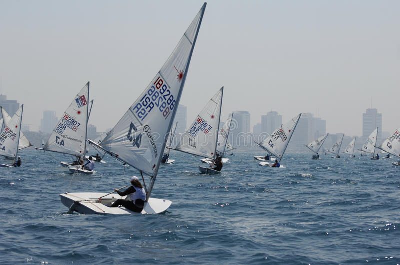 Israel Youth Championship Of Yacht Editorial Stock Image