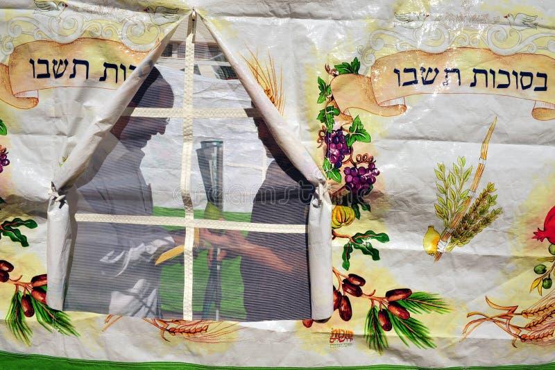 Israeler förbereder sig för den judiska ferien Sukkoth fotografering för bildbyråer