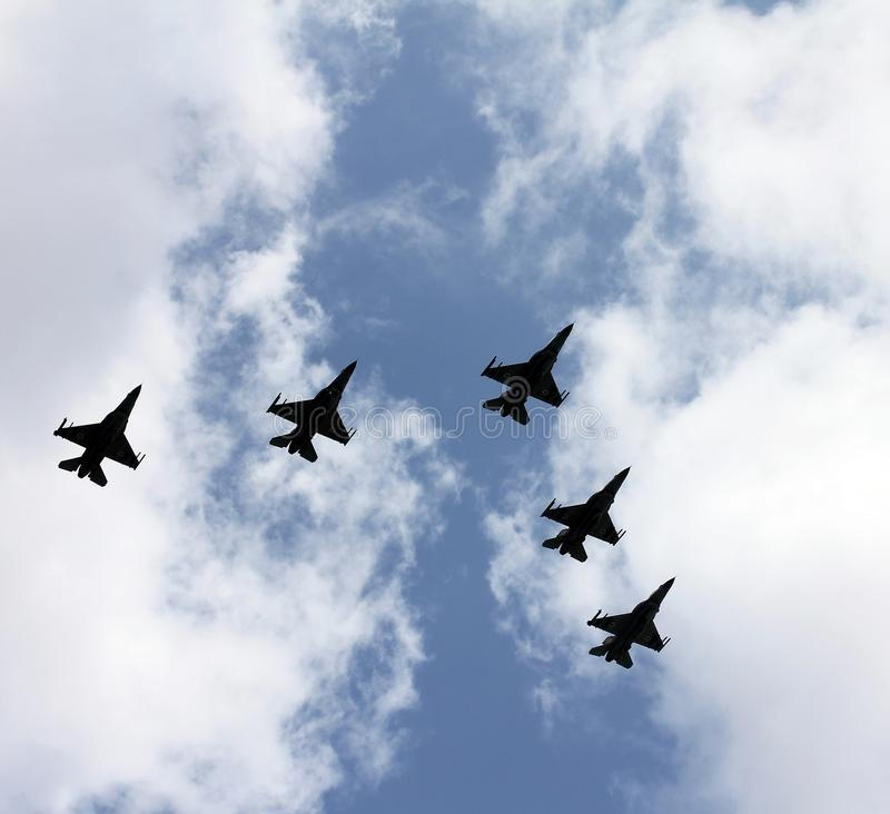 Israeli Air Force airplanes royalty free stock photos