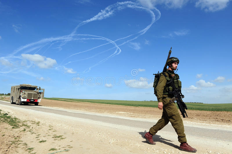 Israeli Armed Conflict Editorial Stock Photo