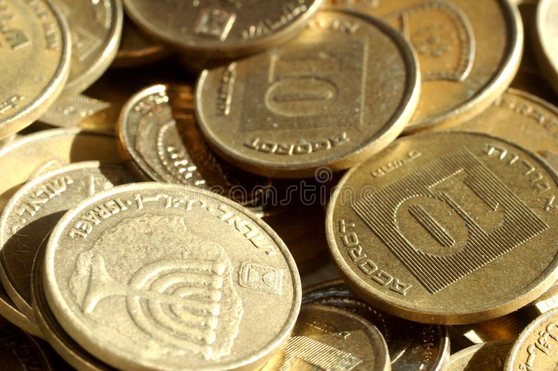Download Israeli Change stock photo. Image of monetary, small, agorot - 101588