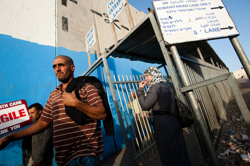Israeli Checkpoint Terminal Editorial Image
