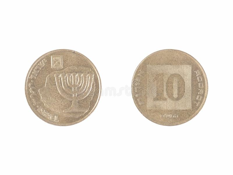 Israeli coin royalty free stock images