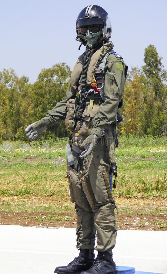 Israeli Combat Suit Pilot Royalty Free Stock Photos