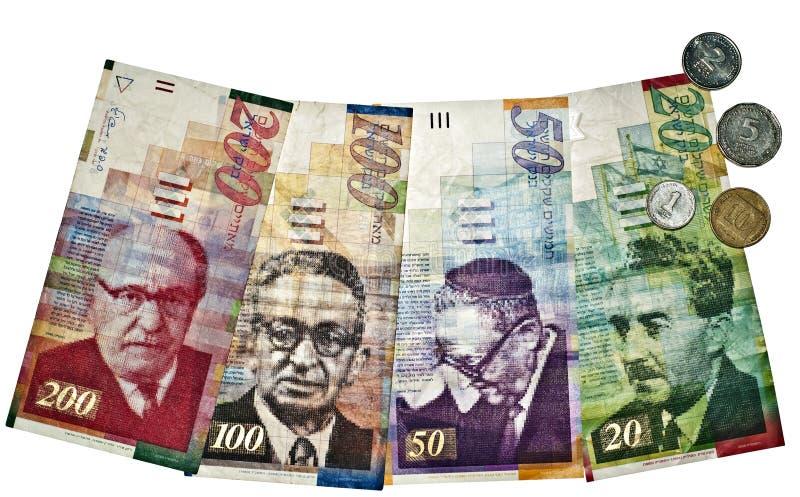 Israeli currency stock image