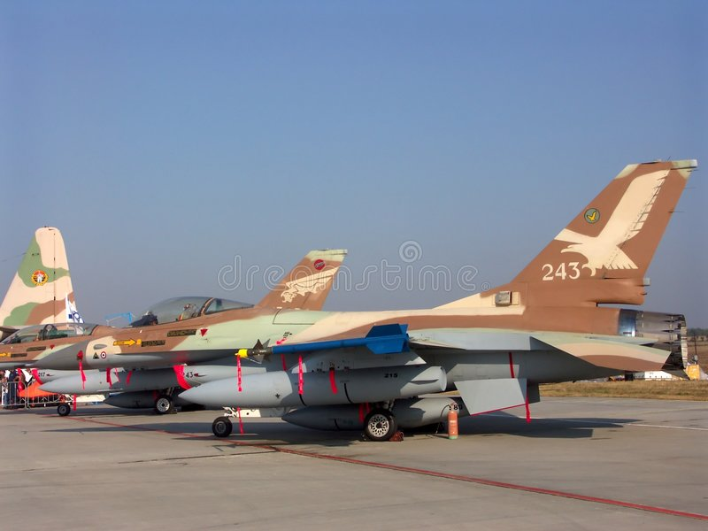 Israeli F16 fighter stock images