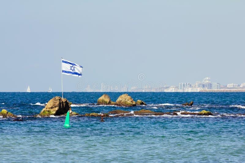 Download The Israeli flag stock image. Image of middle, port, israel - 27489621