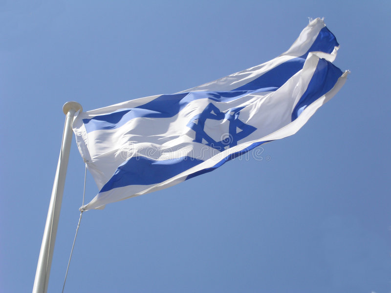 Download Israeli Flag stock image. Image of flap, blue, pole, heberw - 2814917