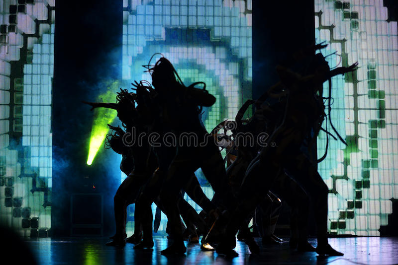Israeli hip-hop dancers group. At contest Stars Of The Dance in Israel Yagur royalty free stock photos