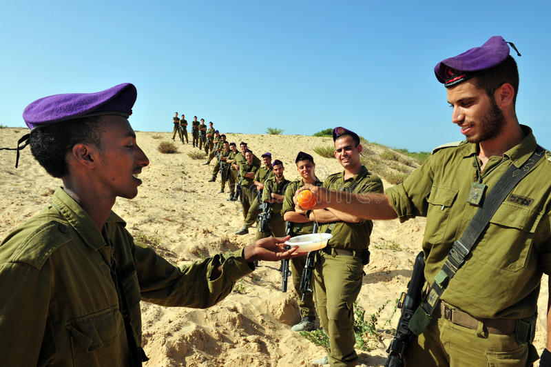 Download Israeli IDF Soldiers Celebrate Rosh Hasahanah Editorial Photo - Image: 26521336