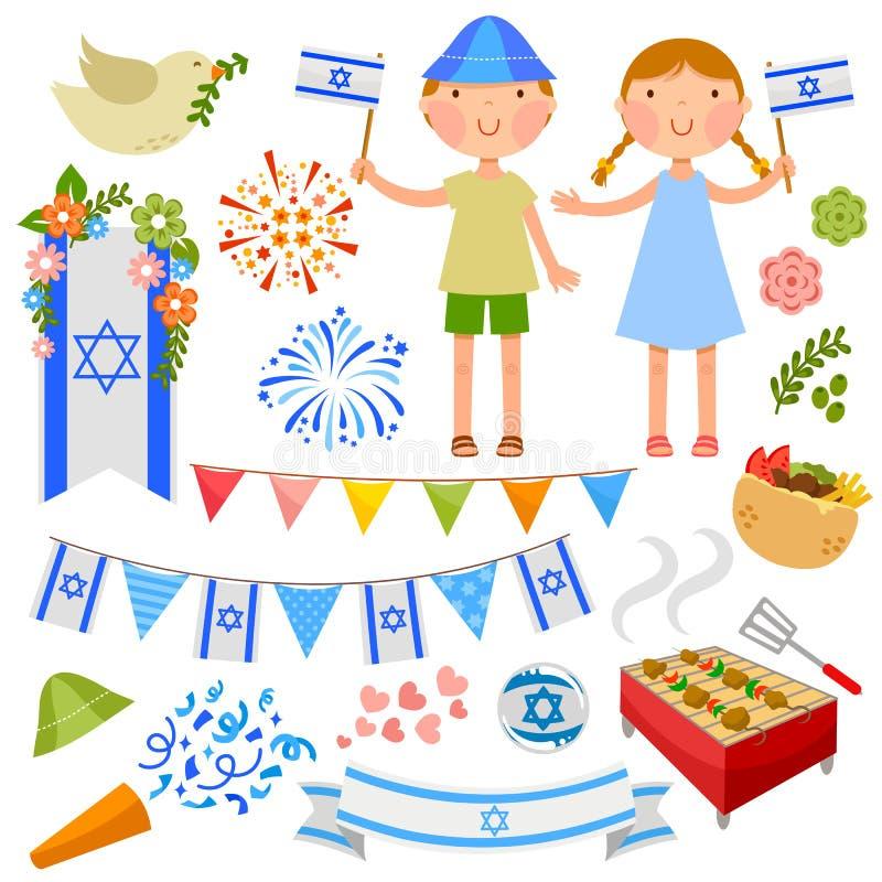 Israeli party vector illustration