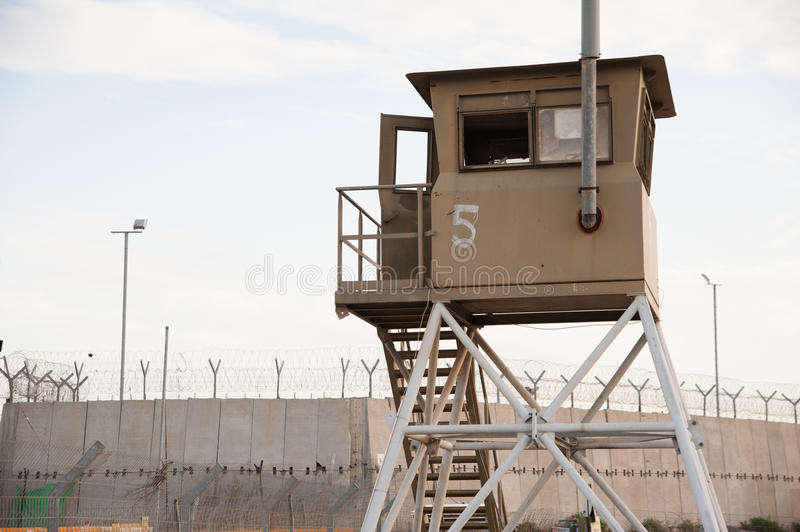 Israeli prison in West Bank stock images