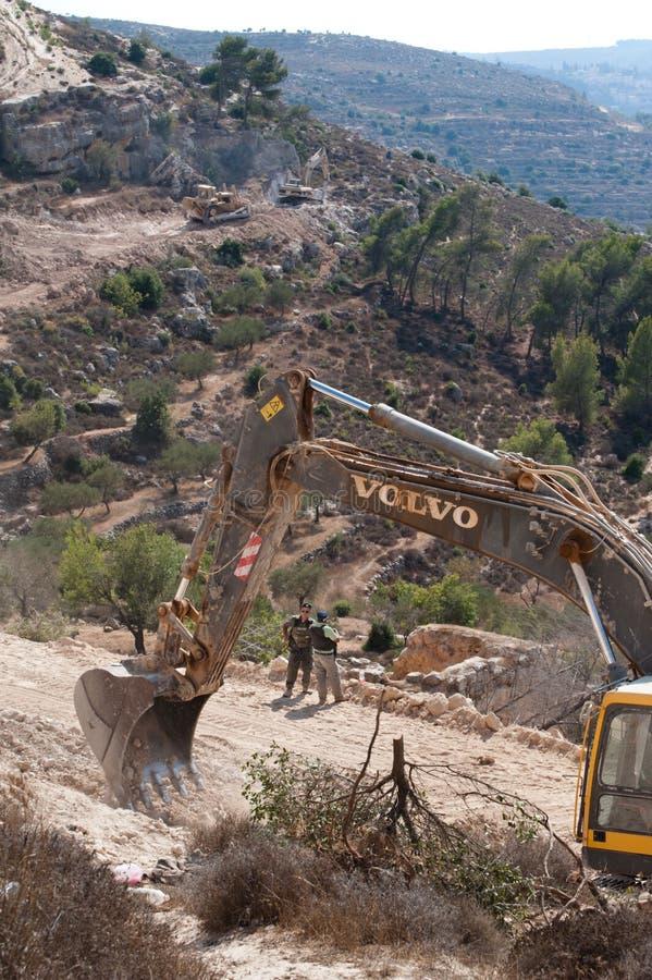 Israeli Separation Barrier Construction royalty free stock photos