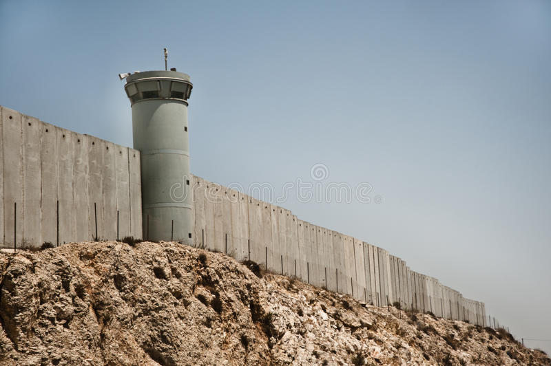 Israeli Separation Wall stock images