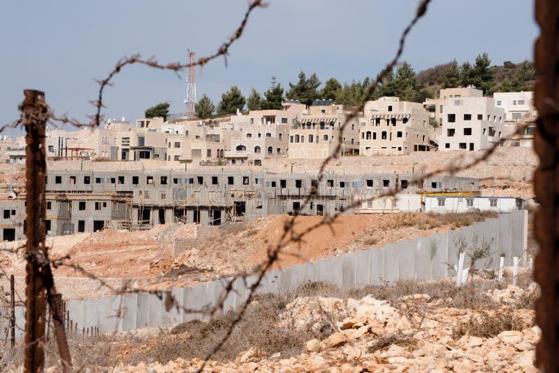 Israeli Settlement Construction stock images